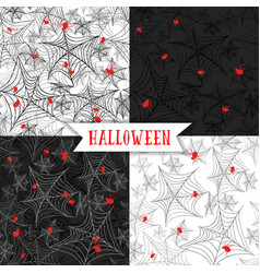 halloween background seamless pattern with spider vector image vector image