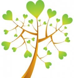heart tree illustration vector image vector image