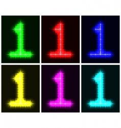 number 1 symbols vector image vector image