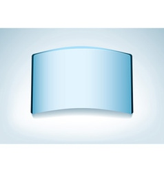 clear glass name vector image vector image