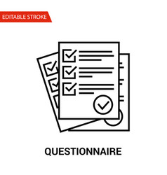 questionnaire icon thin line vector image vector image