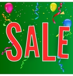 Sale banner on festive background vector