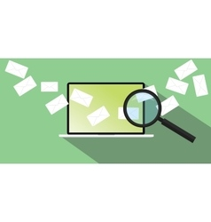 send receiving email vector image