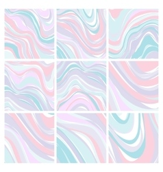 Set of Marble Patterns - Abstract Texture with vector image