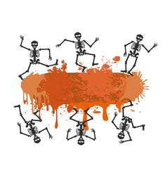 skull dancer banner for halloween design vector image