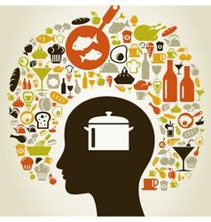 Head food5 vector image