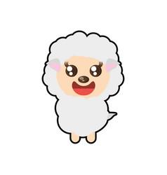 kawaii sheep animal toy vector image
