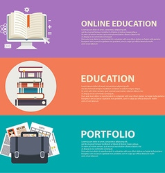 Online education and business portfolio banners vector image vector image