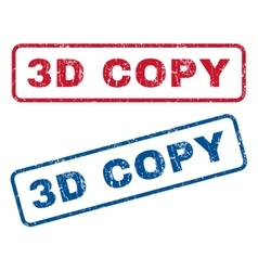 3D Copy Rubber Stamps vector