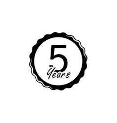 5 years anniversary sign element of anniversary vector image