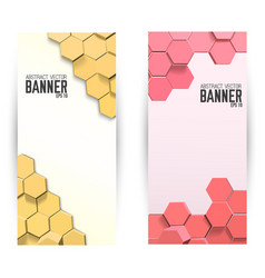 Abstract mosaic vertical banners vector