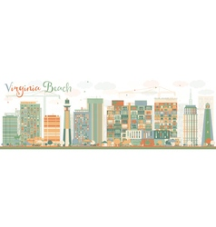 Abstract Virginia Beach Virginia Skyline vector