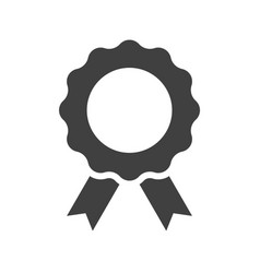 achievement badge black icon on white background vector image