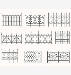 Antique fences - first set vector image
