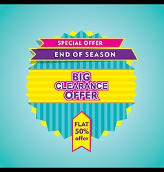 Big clearance offer or end of season sale banner vector