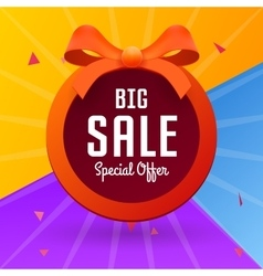 Big sale banner with red tape vector image