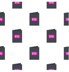 Black wine card pattern flat vector
