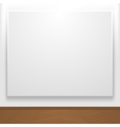 Blank canvas on display vector