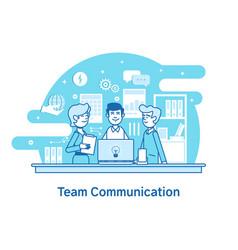 Business team teamwork collaborationflat line vector