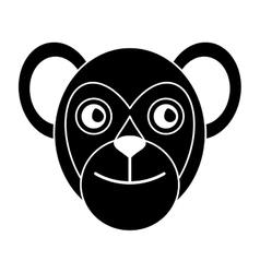 capuchin primate brazil fauna pictogram vector image