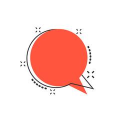 Cartoon blank empty speech bubble icon in comic vector