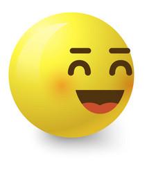 Cheerful smiley icon cartoon style vector