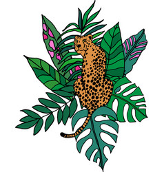 Cheetah in jungle placement vector