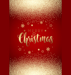 christmas background with gold confetti vector image