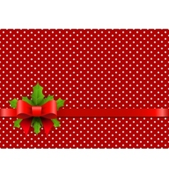 Christmas background with polka dots vector