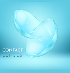 close view on pair of eye contact lenses vector image