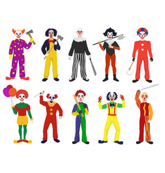 Clown clownish character clowning on vector