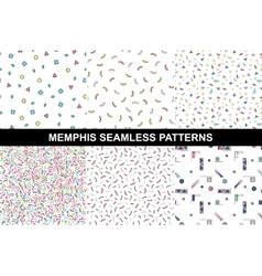 Collection of abstract memphis colorful patterns vector