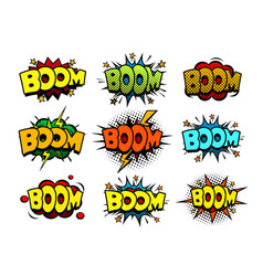 Comic cartoon style bubbles loud exlosion sound vector