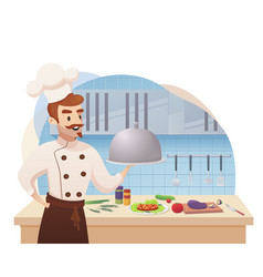 Concept of the restaurant business vector