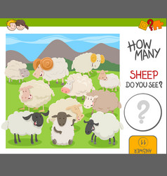 Count the sheep activity worksheet vector