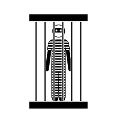 criminal man icon vector image