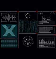 Display with a hacker program vector
