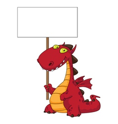 dragon and blank vector image