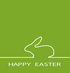 Easter rabbit on green background vector