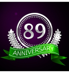 Eighty nine years anniversary celebration with vector image