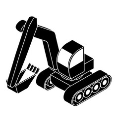 excavator icon simple style vector image