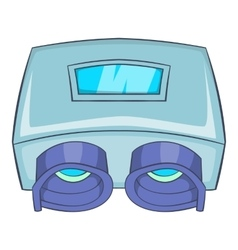 Eye checking machine icon cartoon style vector