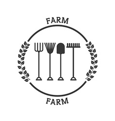 farm fresh pictogram vector image