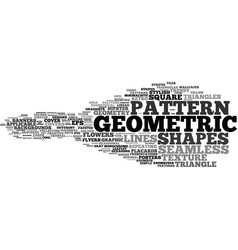 geometric word cloud concept vector image