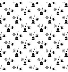 Halloween festive seamless pattern with bats vector
