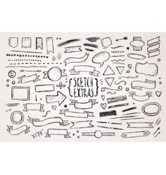 Hand drawn sketch elements vector image