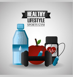 Healthy lifestyle sport gym vector