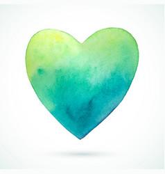 Heart-green-blue vector