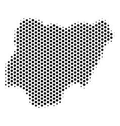 Hex tile nigeria map vector