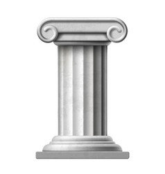 Icon antique marble column isolated on white vector